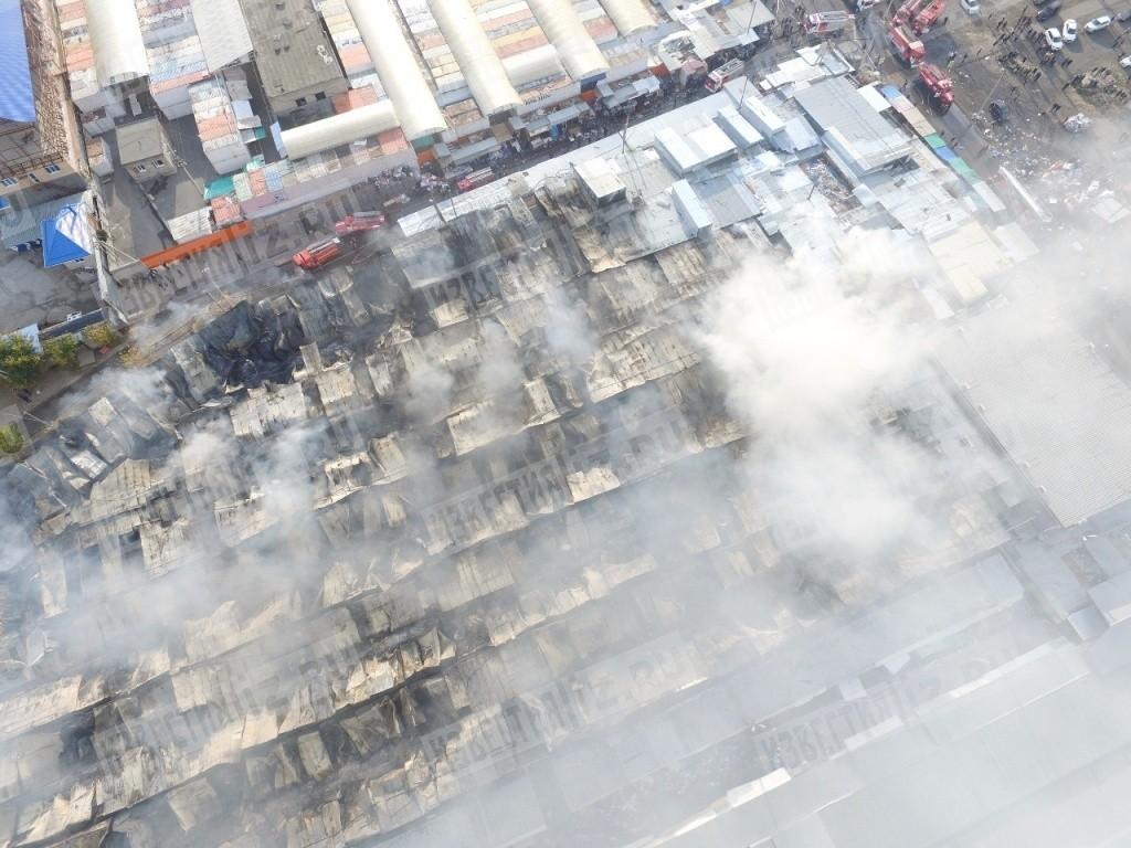 Фото пожара в ростове с высоты