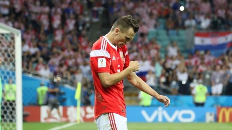 Футболист Черышев пропустит игру против Швеции из-за серьезной травмы