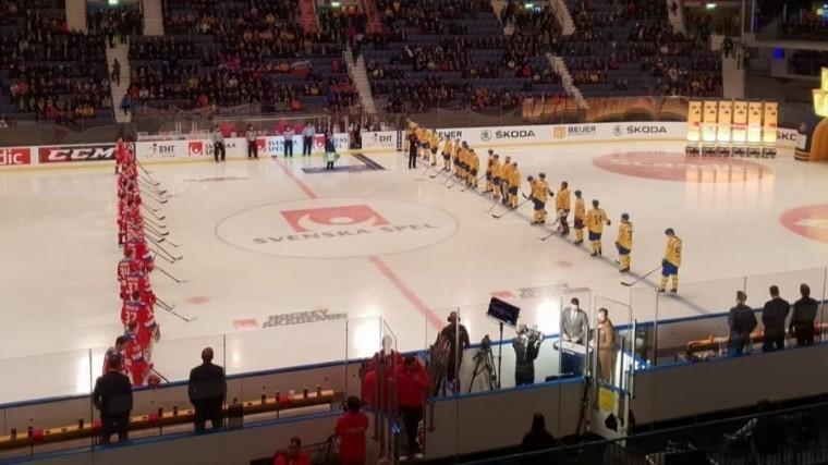 Видео: хоккейный матч «Россия-Швеция» завершился сосчетом 2:4