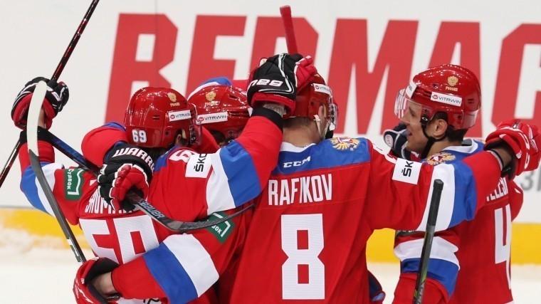 Российские хоккеисты вышли навторое место втретьем этапе Евротура