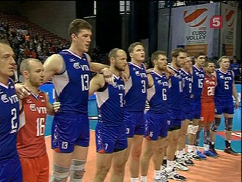 Российские волейболисты завоевали золотые медали европейского чемпионата