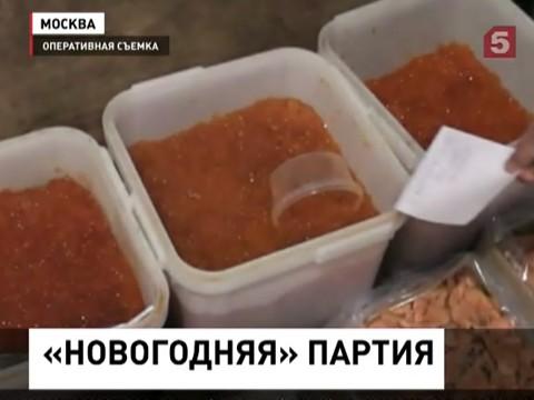 В Москве изъяли крупную партию осетрины, черной и красной икры