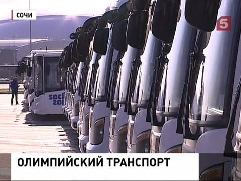 На улицы Сочи выехали олимпийские автобусы