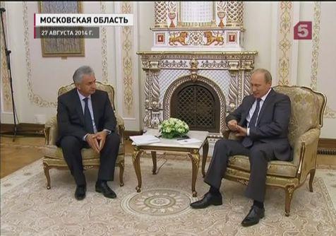 Владимир Путин встретился с Раулем Хаджимбой