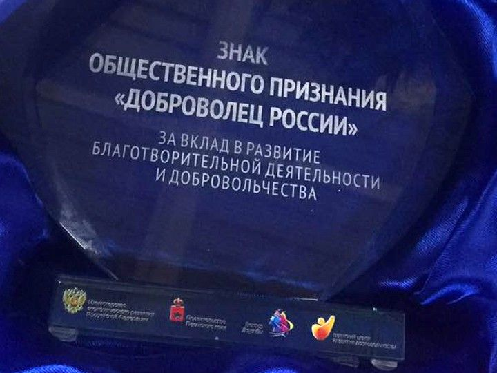 «День Добрых Дел» наградили на всероссийском конкурсе «Доброволец России 2016»