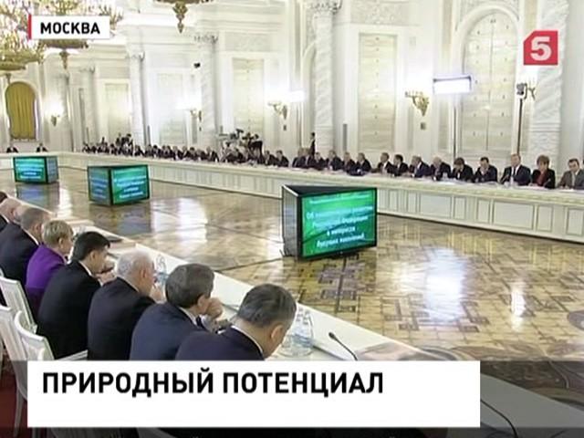 Владимир Путин провел заседание Госсовета по экологии