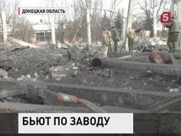 ВДонецке после обстрела произошел взрыв нахимическом заводе