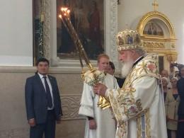Патриарх Кирилл освятил вБишкеке главный православный храм