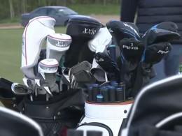 Первая игра напервом вПетербурге18-лунном поле для гольфа