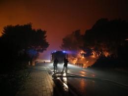 Туристов эвакуируют скурортов Хорватии из-за лесных пожаров