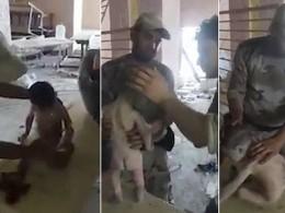 Солдаты иракской армии обнаружили маленького мальчика, выжившего после осады ИГИЛ*