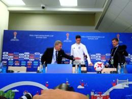 Чемпионы мира пофутболу хотят еще один кубок— пресс-конференция накануне финала Кубка конфедераций