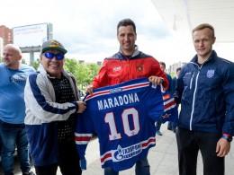Марадона посетил тренировочную базу хоккейного клуба СКА— первые фото