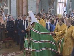 Патриарх Кирилл совершил богослужение вПетропавловском соборе Петербурга