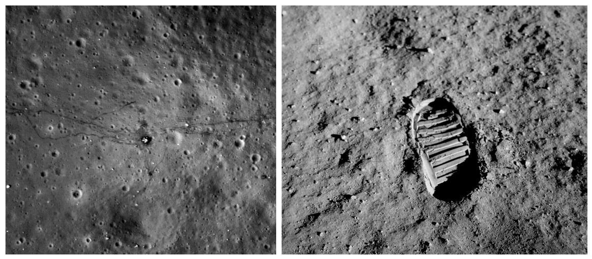 фотографии следов американцев на луне знали, что сейчас