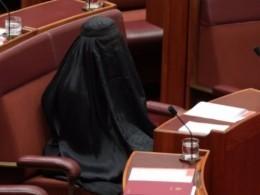 Сенатор Австралии пришла назаседание впарандже