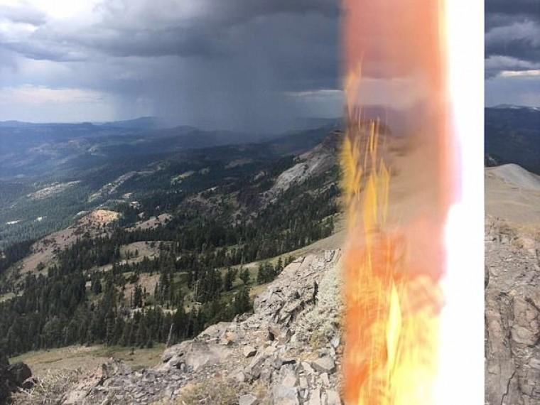 Австриец сфотографировал молнию, которая его ударила