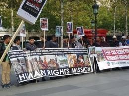 Митинг вподдержку мусульман Мьянмы прошел вПариже