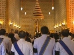 Пятый канал публикует видео сцеремонии похорон короля Таиланда