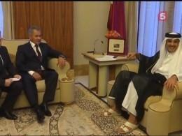 Стали известны подробности встречи Сергея Шойгу иэмира Катара вДохе