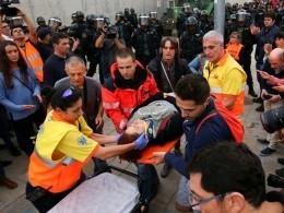 Намитингах против независимости Каталонии пострадали три человека