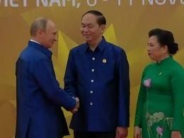 Владимир Путин прибыл наторжественный обед врамках программы саммита АТЭС