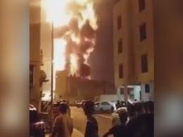 Опубликовано видео страшного пожара нанефтепроводе вБахрейне