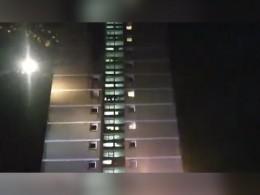 Появилось видео горящей высотки вБелфасте