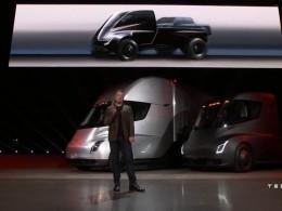 Илон Маск презентовал эскиз электрического пикапа Tesla
