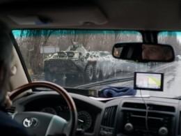 Сотрудники ОБСЕ зафиксировали военную технику уздания бывшего МВД вЛуганске