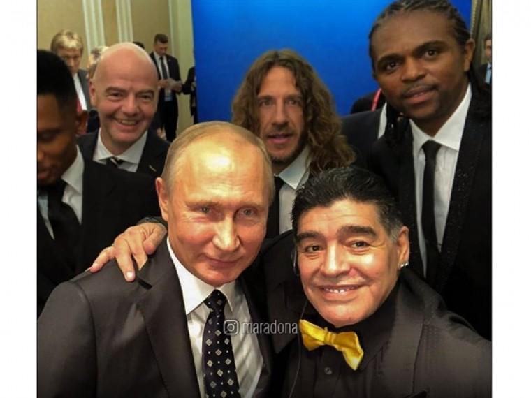 Марадона выложил винтернет совместное фото сПутиным
