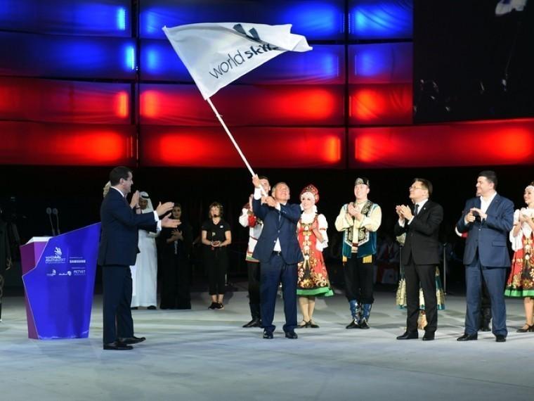 Наборту «Союз МС-07» вкосмос отправился флаг WorldSkills