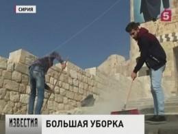 Годовщину содня освобождения оттеррористов всирийском Алеппо отпраздновали большой уборкой