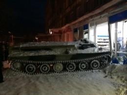 Пьяный житель Мурманской области отправился завиномнаугнанном бронетранспортере