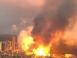 Взрыв прогремел нанефтезаводе вТайване