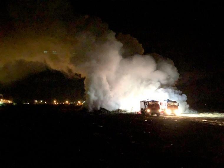 Пожар нанелегальной свалке вызвал задымление вСаранске