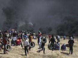 Четыре палестинца погибли встычках награнице сектора Газы