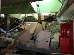 ВКургане частично обрушилось офисное здание— фото