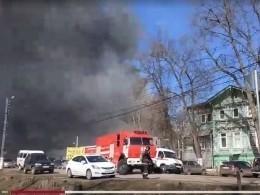 ВНижегородской области потушили горевший кожевенный завод