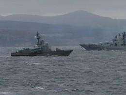 Видео: Боевые корабли Тихоокеанского флота продемонстрировали свои возможности