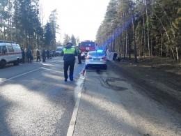 Шесть автомобилей столкнулись натрассе вПсковской области
