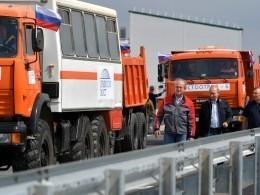 Запять дней поКрымскому мосту проехали более90 тысяч машин