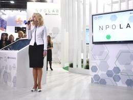 Татьяна Голикова открыла стенд NPO LAB социальной платформы Фонда Росконгресс