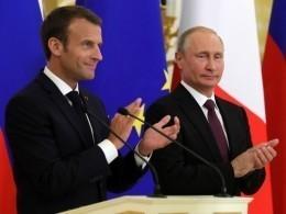 Пресс-конфенция Владимира Путина иЭммануэля Макрона— прямая трансляция