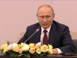 Владимир Путин проводит встречу сглавами крупнейших иностранных компаний наПМЭФ