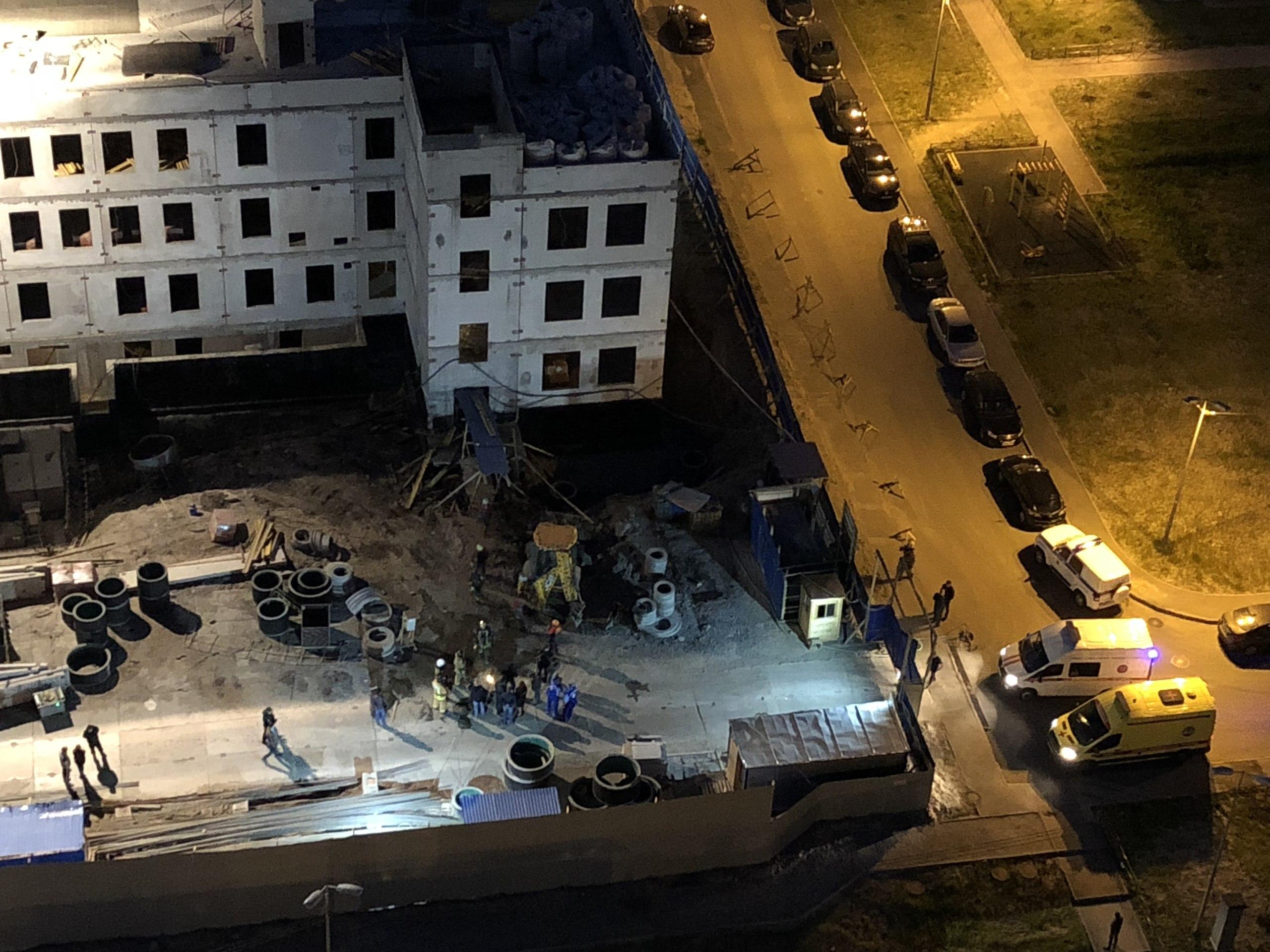 Обрушение здания в Петербурге