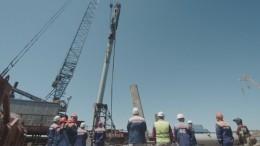 Историческое видео: Строители забили последнюю сваю Крымского моста