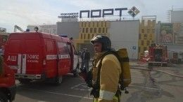 ВКазани есть угроза обрушения горящего торгового центра «Порт»