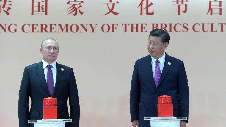 Путин: Сотрудничество Москвы иПекина вышло набеспрецедентный уровень
