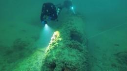 Уберегов Крыма нашли затонувший немецкий бомбардировщик
